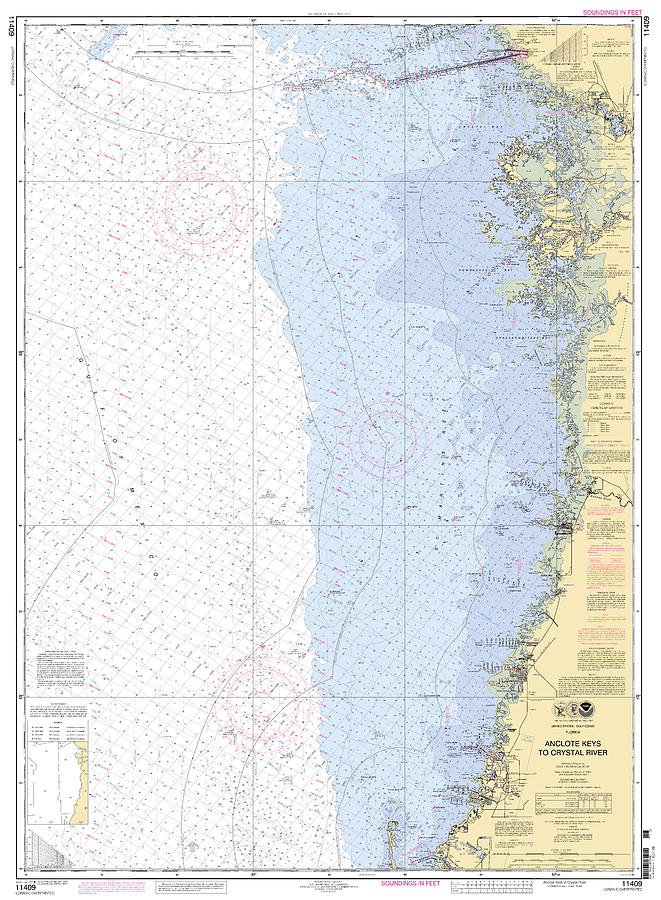 Anclote Keys to Crystal River NOAA Nautical chart 11409 by Paul and Janice Russell