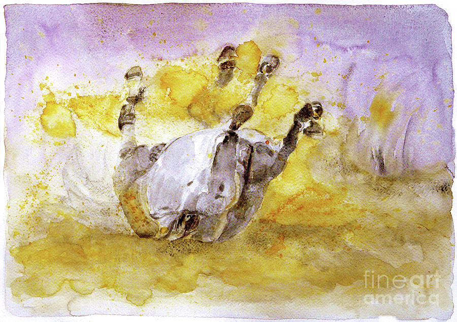 Horse Painting - And The Fall Is Flight by Jasna Dragun