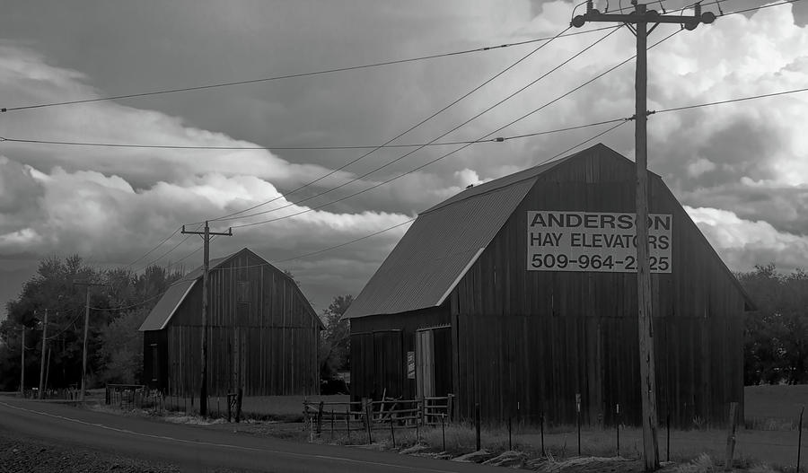 Anderson Barns BW  by Cathy Anderson