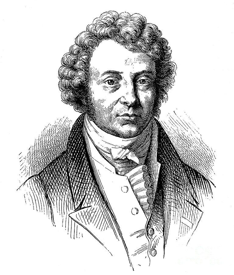 Andre-marie Ampere 1775-1836, French Drawing by Print Collector