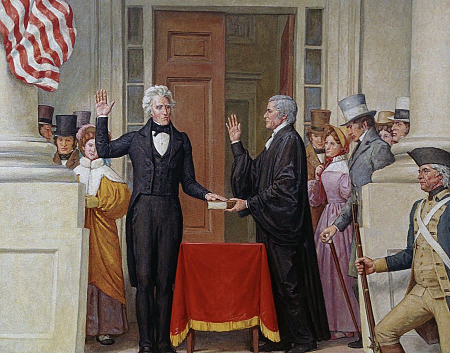Andrew Jackson Taking Oath Of Office by War Is Hell Store