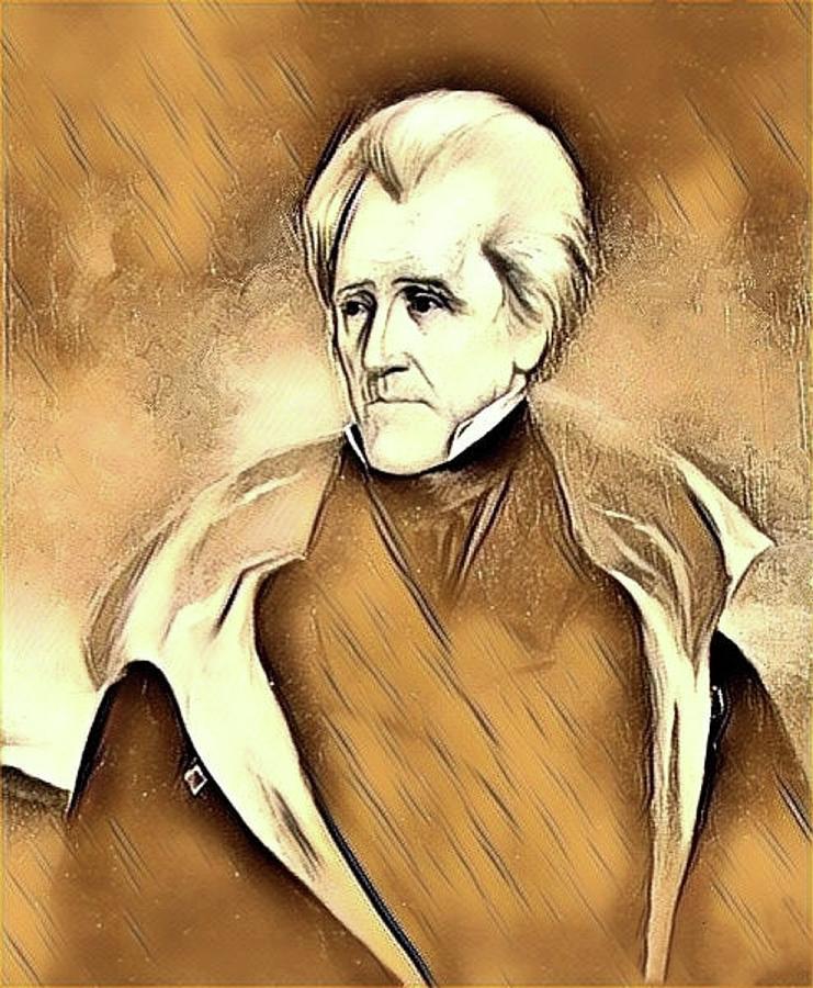 Andrew Jackson- Mixed Media