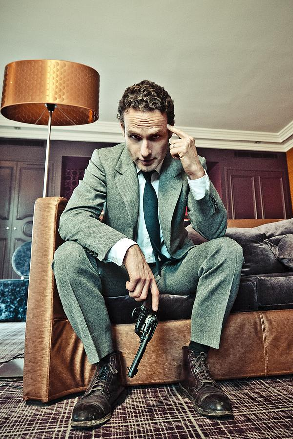Andrew Lincoln - Portrait Session Photograph by Laurent Koffel