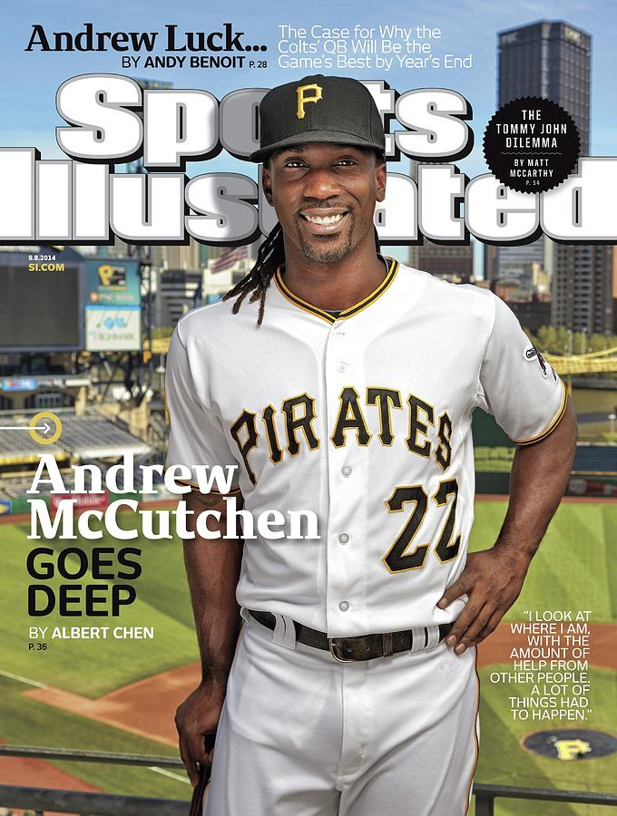 Andrew Mccutchen Goes Deep Sports Illustrated Cover Photograph by Sports Illustrated