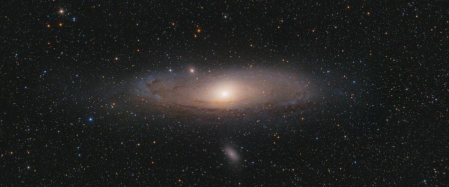 Stars Photograph - Andromeda Galaxy by Bartosz Wojczynski