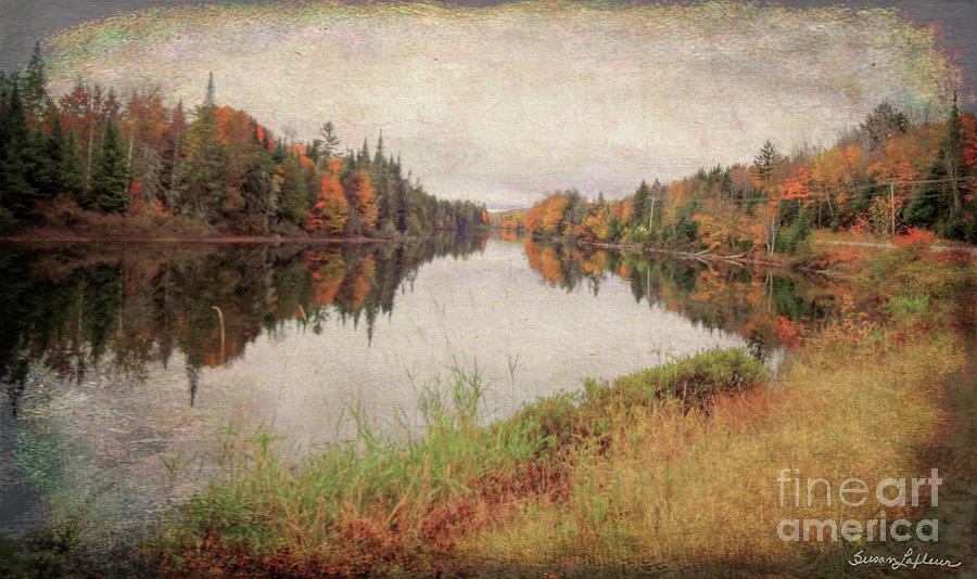 Androscoggin River, 13 Mile Woods Antiqued by Susan Lafleur