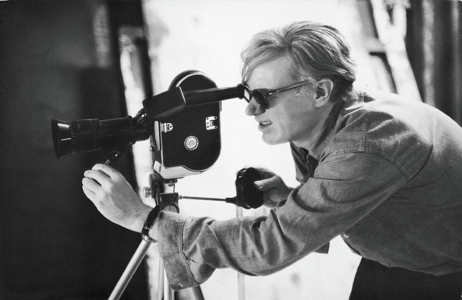 Andy Warhol Lines Up A Shot Photograph by Fred W. Mcdarrah