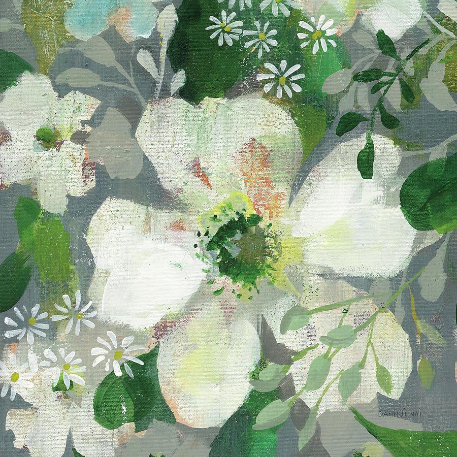 Anemones Painting - Anemone And Friends Iv by Danhui Nai