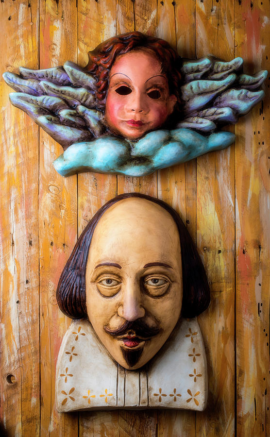 Antique Photograph - Angel And Shakespeare by Garry Gay