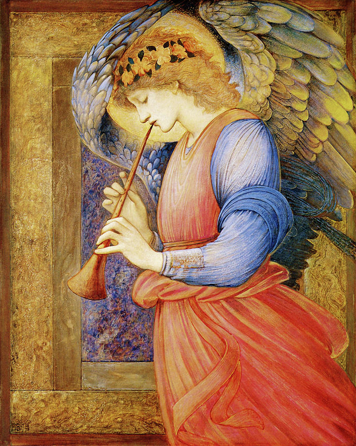 Angel Gabriel Mixed Media - Angel Gabriel by Vintage Lavoie