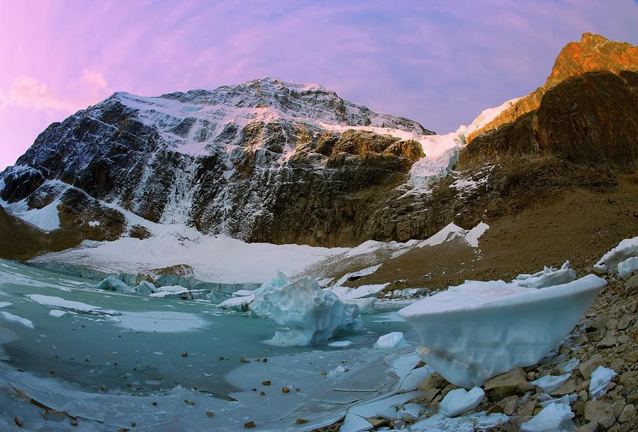 Angel Glacier, Mount Edith Cavell Photograph by Design Pics