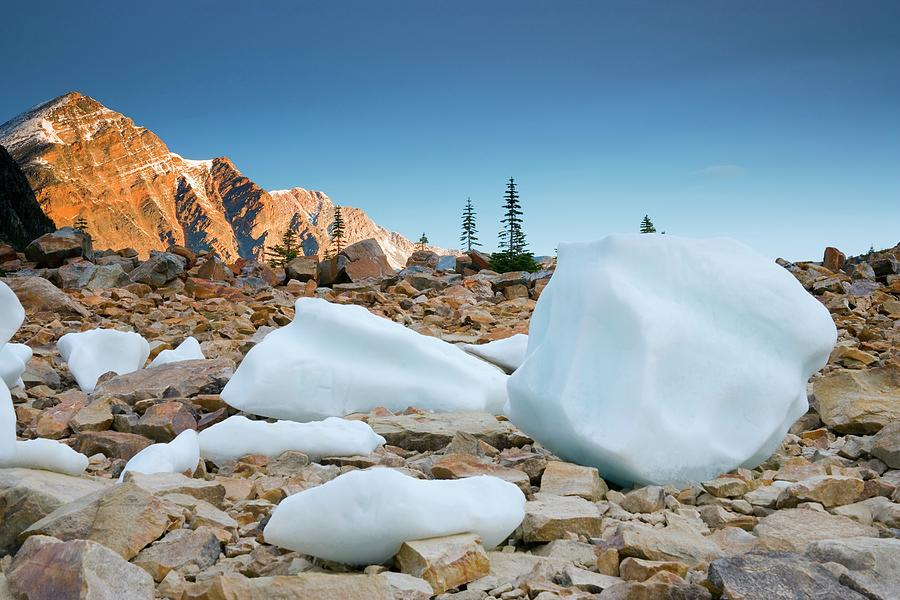 Angel Glacier, Mount Edith Cavell Photograph by Design Pics/carson Ganci