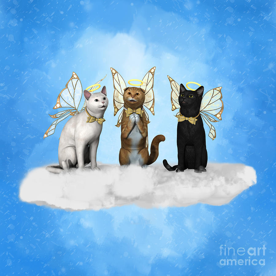 Angel Kitty Choir by Methune Hively