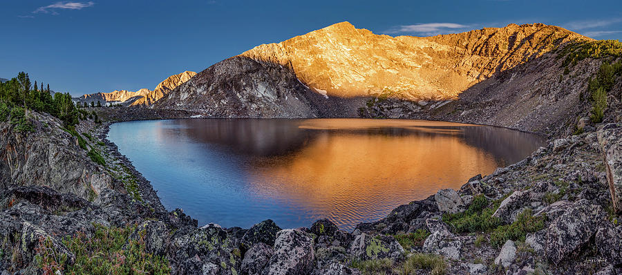 Altitude Photograph - Angel Lake by Leland D Howard