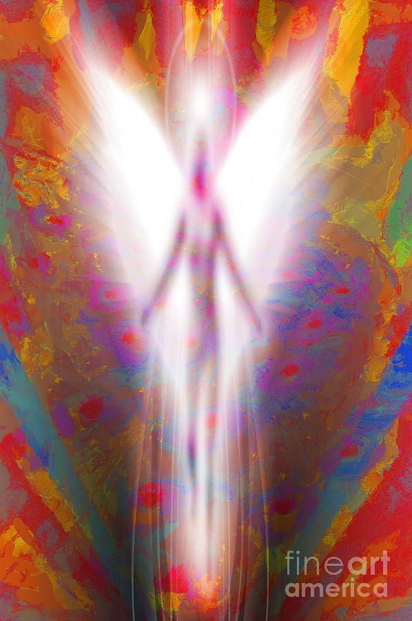 Angel LIT In Acrylic by Catherine Lott
