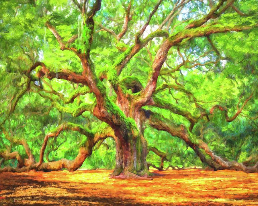 Angel Oak Painting - Enduring Angel Oak - South Carolina Landscape by Mark Tisdale