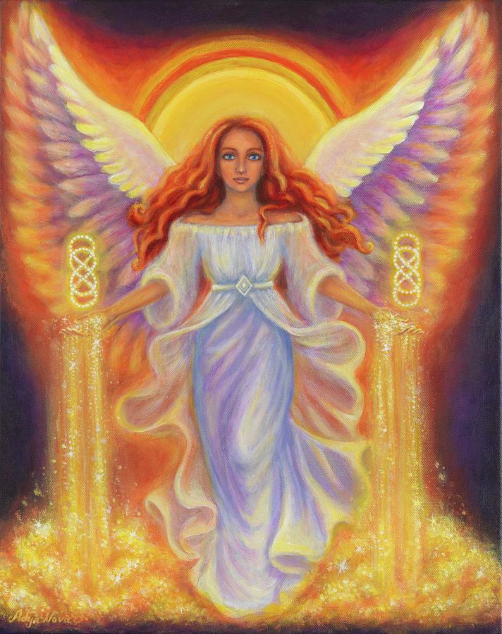 Angel Painting - Angel of Abundance by Adya Nova