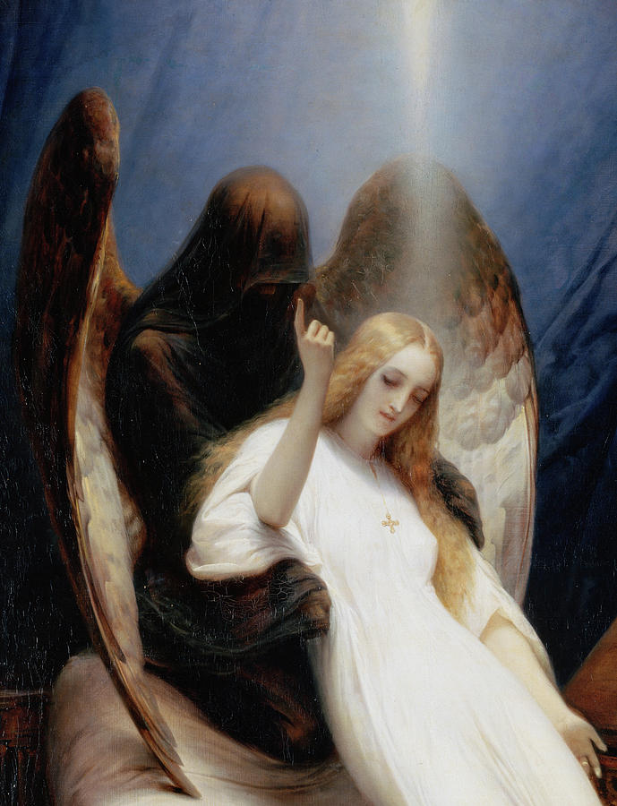 Horace Vernet Painting - Angel Of Death, 1851 by Horace Vernet