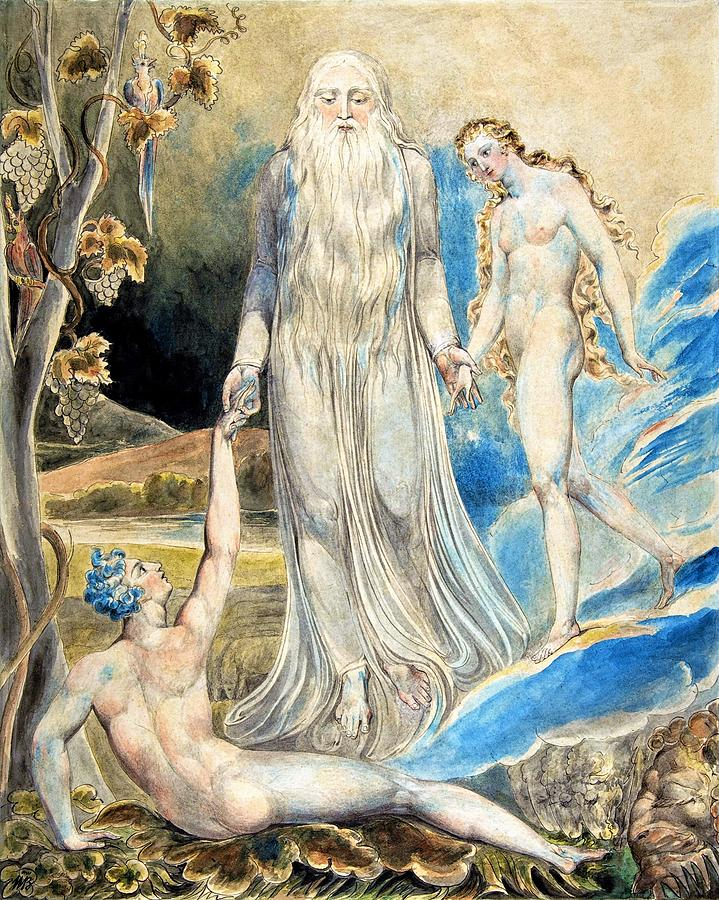 William Blake Painting - Angel Of The Divine Presence - Digital Remastered Edition by William Blake