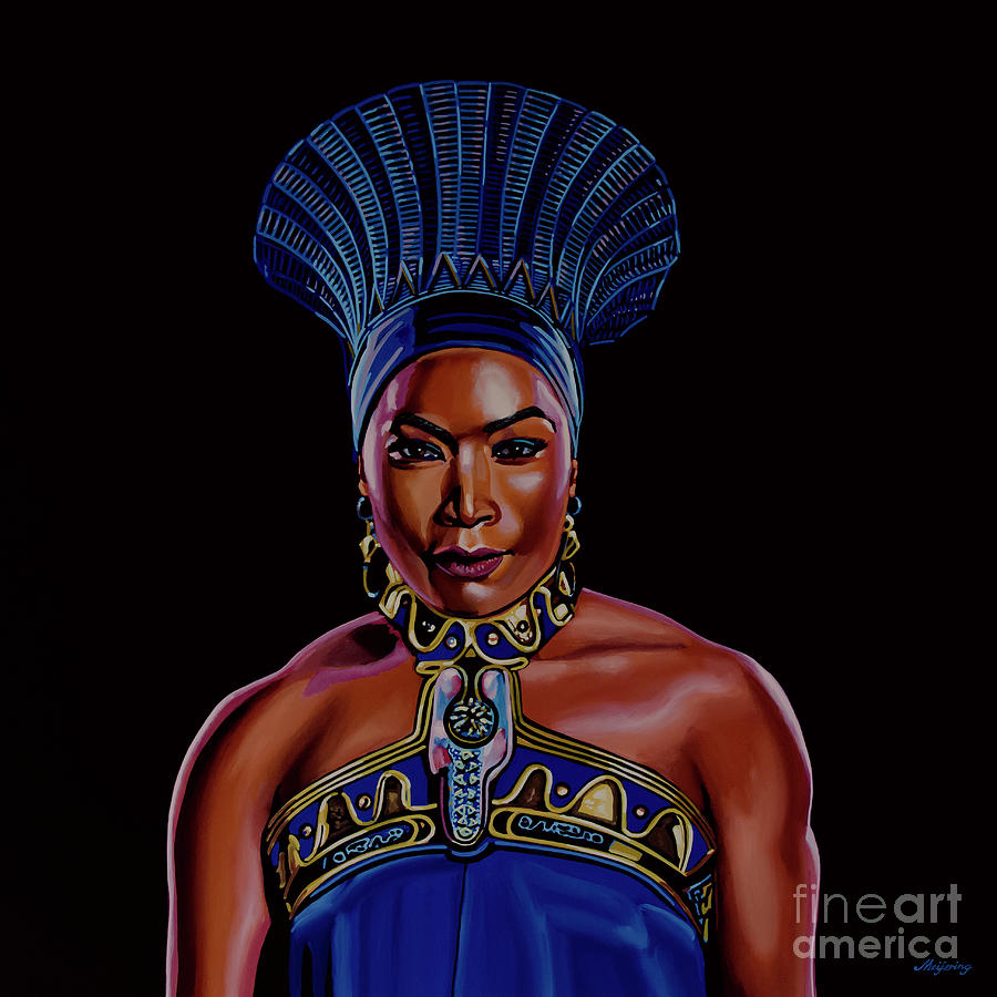 Angela Bassett as Queen Ramonda Painting by Paul Meijering