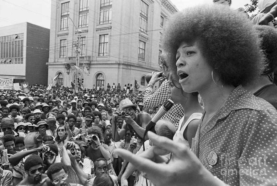 Angela Davis Addressing Rally Photograph by Bettmann