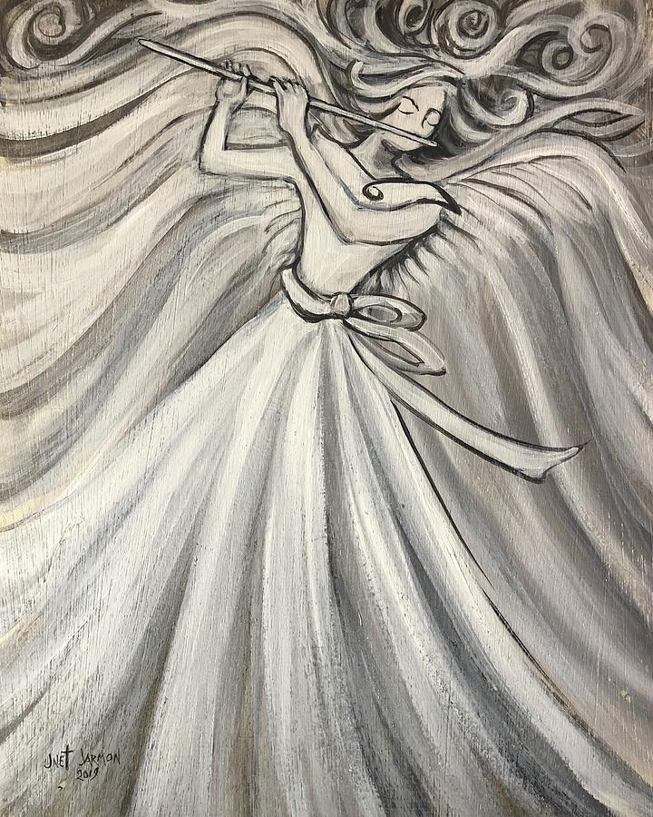 Angelic Flutist  by Jeanette Jarmon