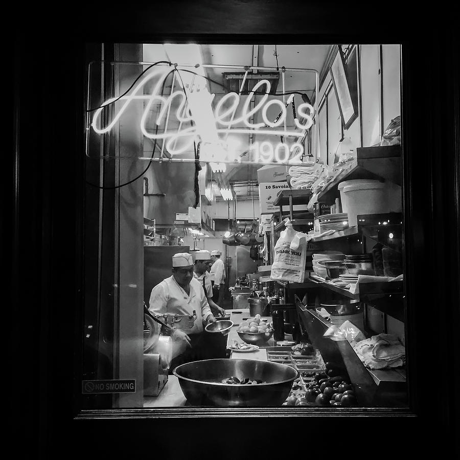 Angelo's Photograph - Angelos Of Mulberry Street by Michael Gerbino