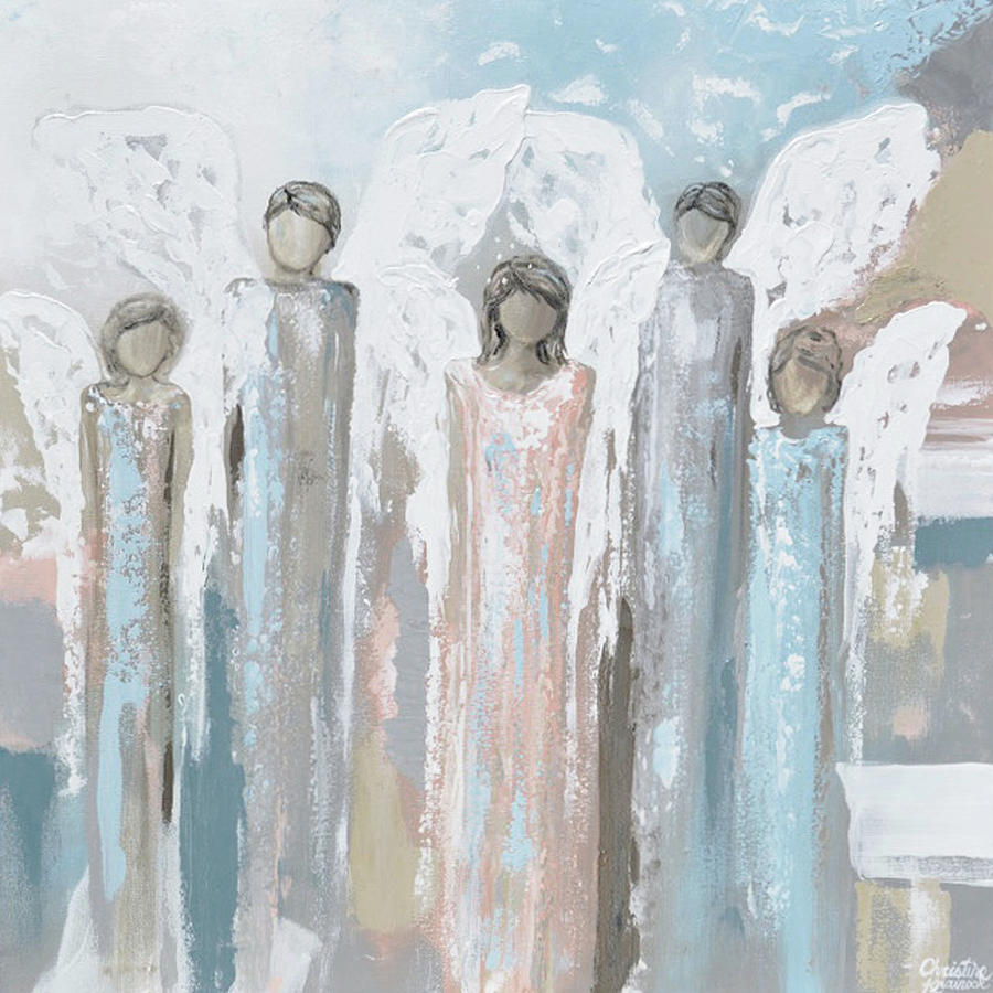 Angels Lovingly Surround You by Christine Bell