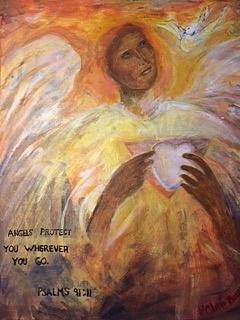 Angels Protect You by Claremaria Vrindaji Bowman