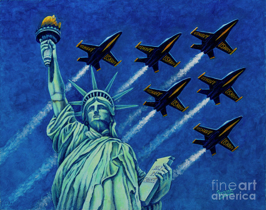 Angels Protecting Liberty by Michael Frank