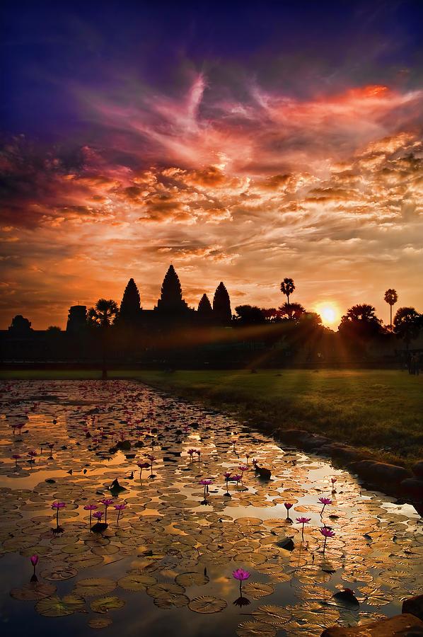 Angkor Wat At Sunrise Photograph by Andrew Jk Tan