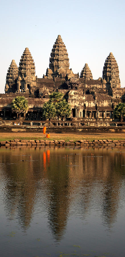 Angkor Wat, Cambodia Monks And Photograph by Namussi