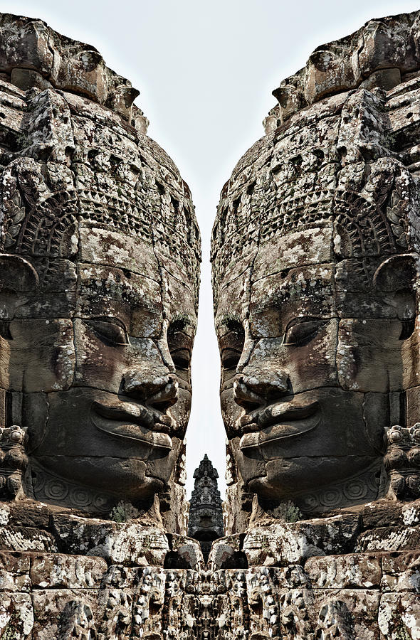 Angkor Wat, Giant Faces At Bayon Temple Photograph by Wilfried Krecichwost