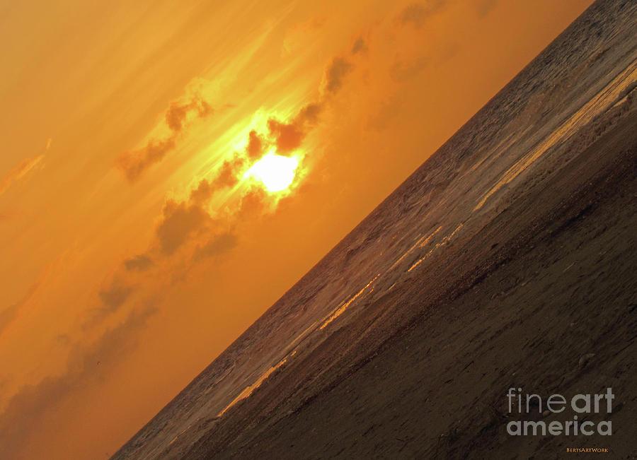 Angled Holden Beach Sunrise by Roberta Byram