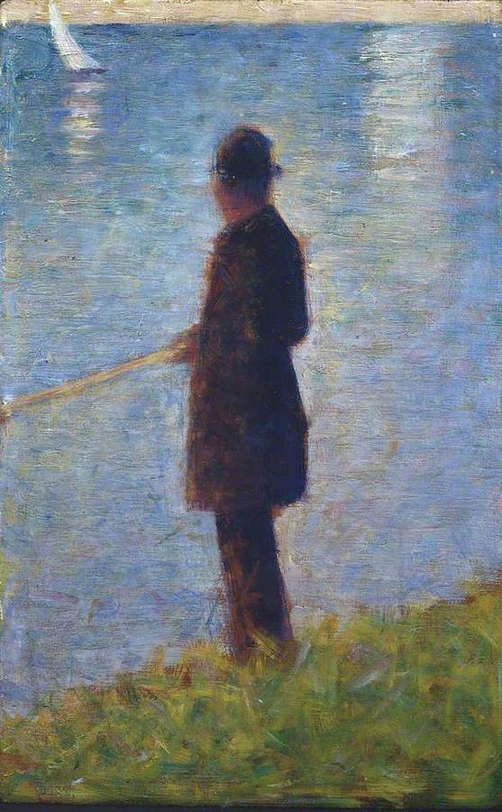 Georges Seurat Painting - Angler 1884 by Georges Seurat