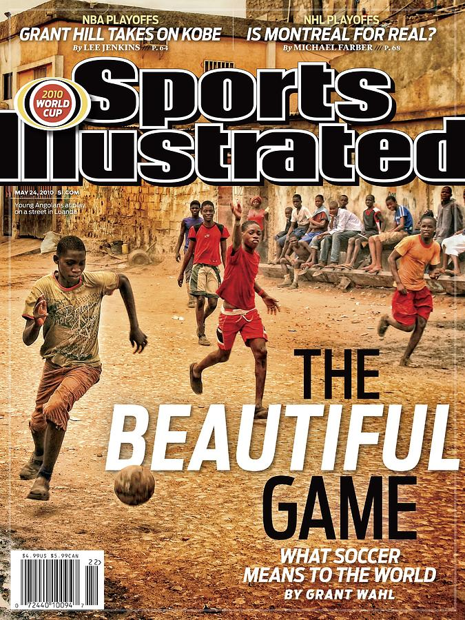 Angolan Boys Playing Soccer Sports Illustrated Cover Photograph by Sports Illustrated