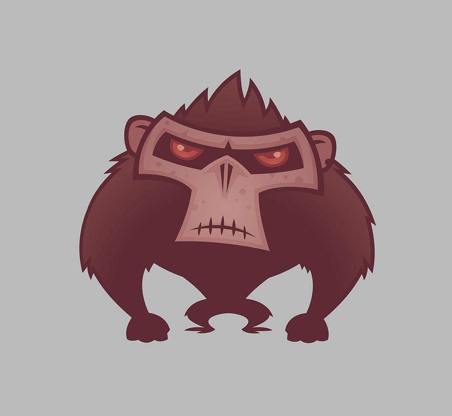 Angry Ape Digital Art