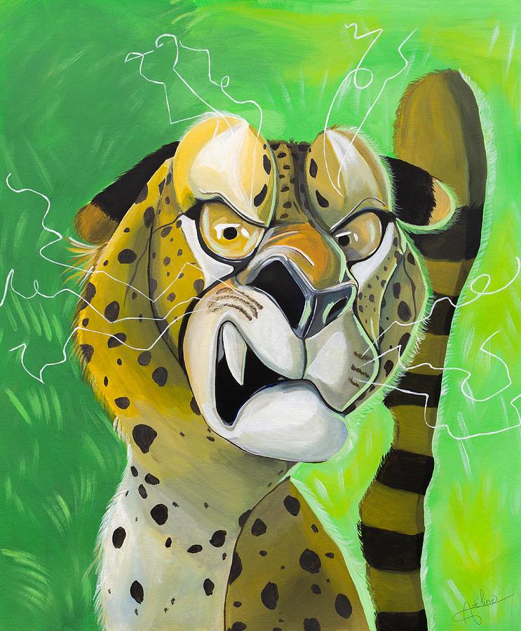 Cheetah Painting - Angry Cheetah by Adeline Albert
