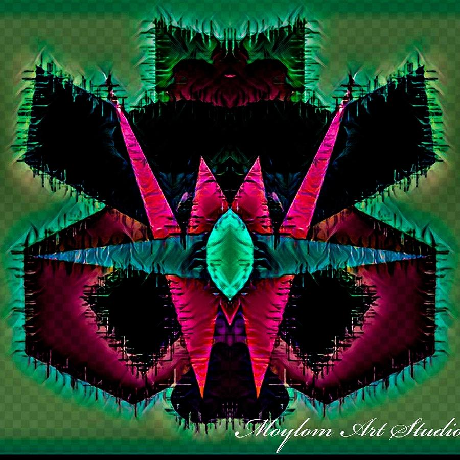 Angry Digital Art - Angry Heart 45  by Moylom Art Studio