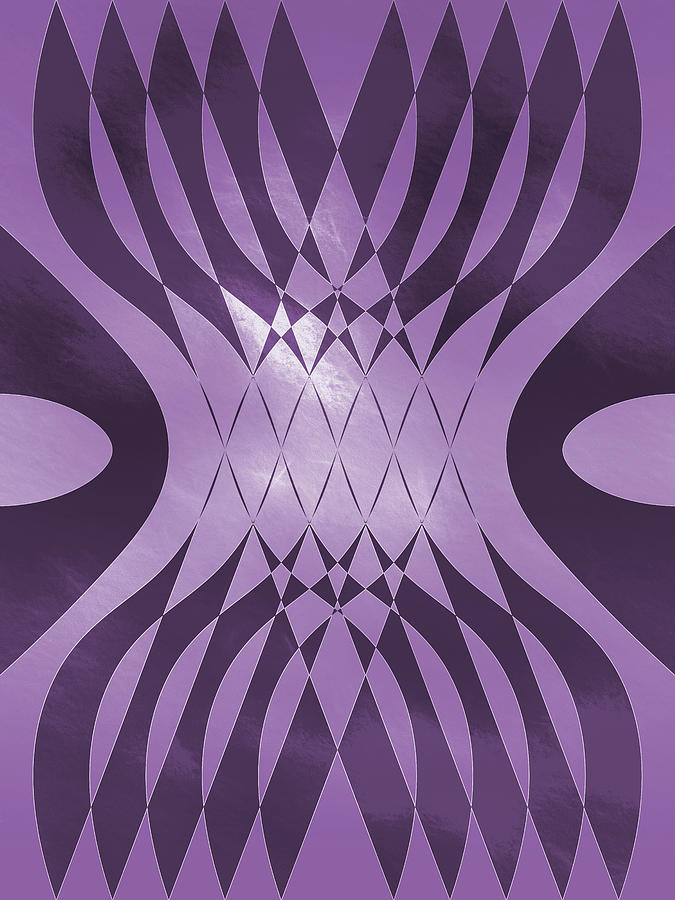 Angry Symmetry - Purple by Jason Fink