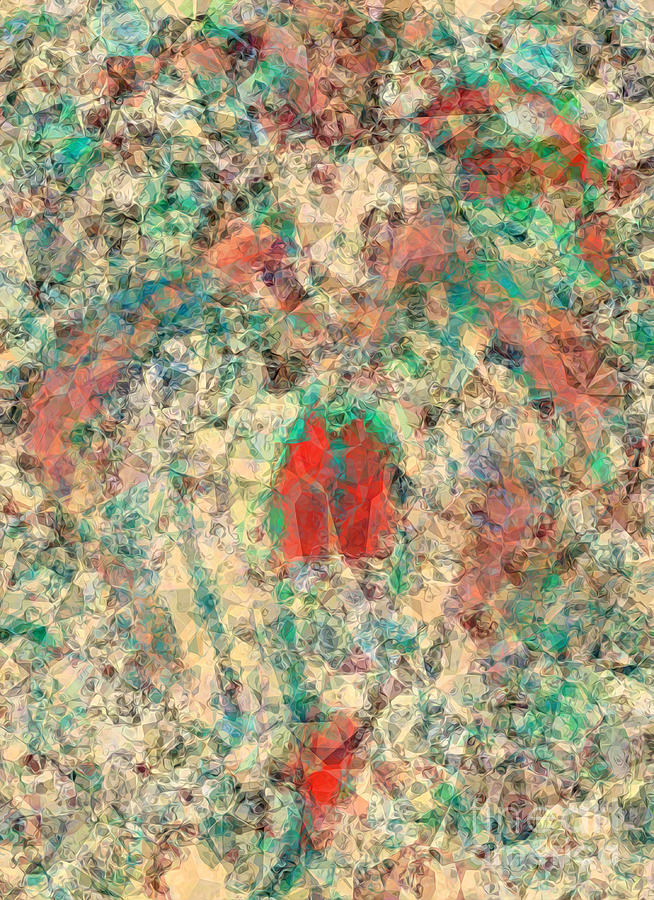 Abstract Digital Art - Mane In Polygons by Banyan Ranch Studios