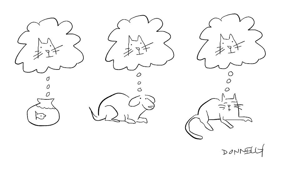 Animal Thoughts Drawing by Liza Donnelly