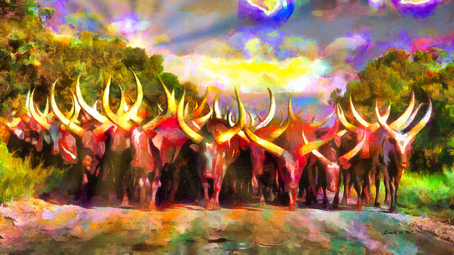 Ankole Cattle Come Home by Choo KW