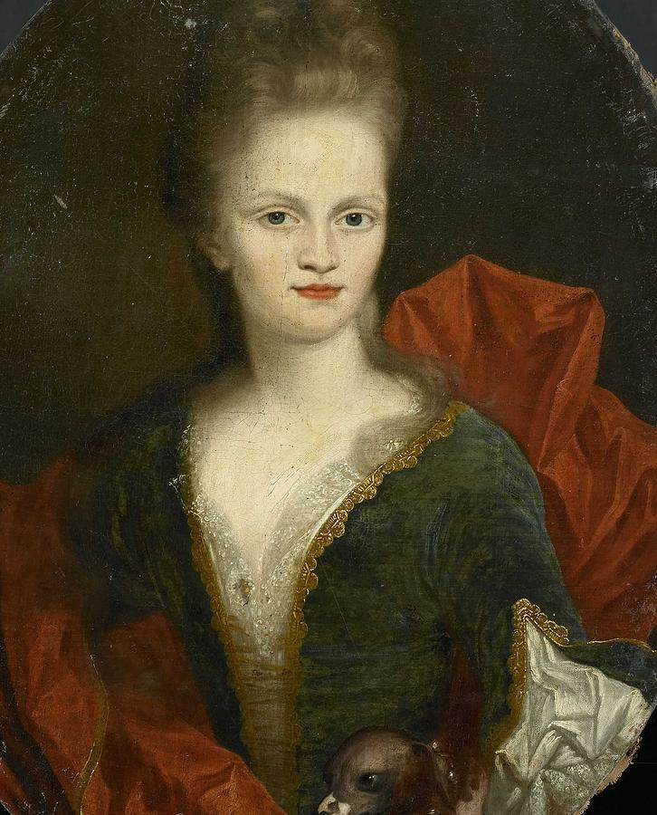 Girl Painting - Anna Margaretha Of Petcum 1676-1745, Wife Of Johan Arnold Zoutman, Johan Van Diest, 1690 - 1720 by MotionAge Designs