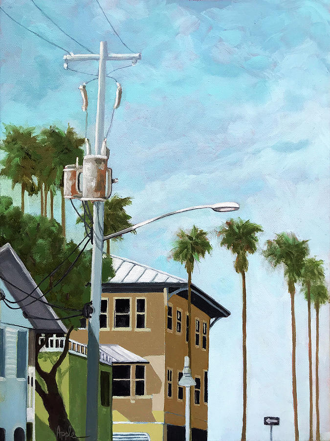 Cityscape Painting - Anna Marie Island, Florida  by Linda Apple