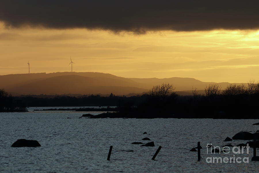 Annaghdown sunset by Peter Skelton
