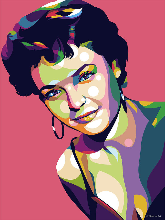 Anne Bancroft by Stars on Art