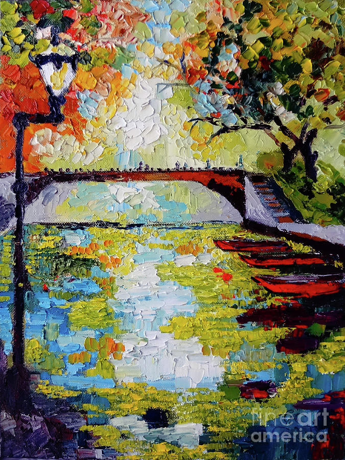 Annecy Canal France Painting by Ginette Callaway