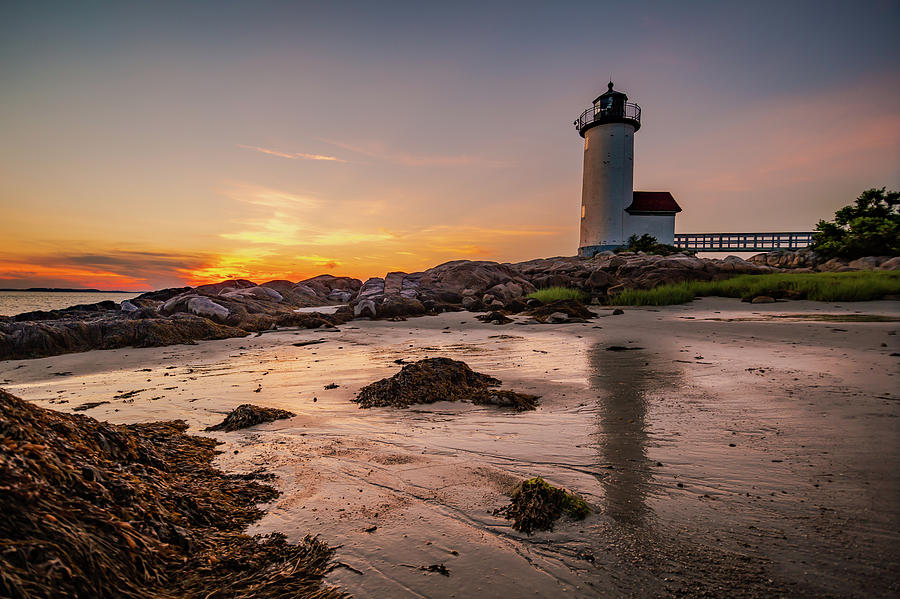 Annisquam Lighthouse Golden Hour by Tim Kirchoff