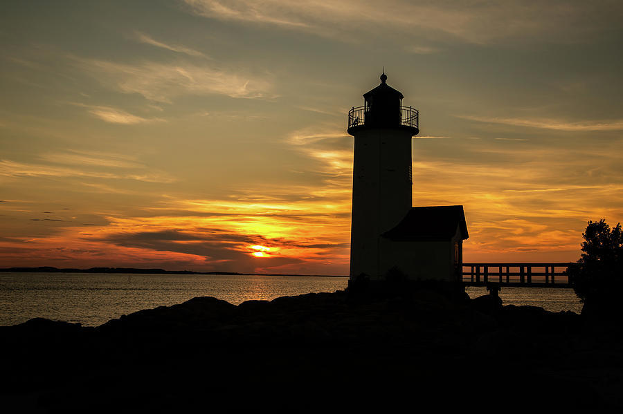 Annisquam Lighthouse Silhouette Landscape by Tim Kirchoff